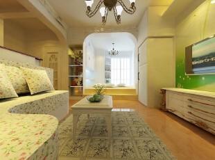 日式风格,客厅,日式,黄色,绿色,