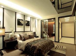 日式风格,卧室,日式,现代,黑白,
