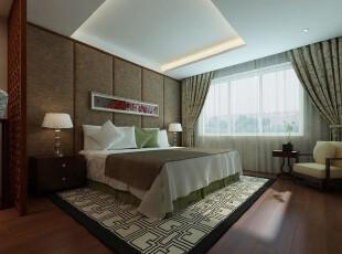 日式风格,卧室,地台,墙面,窗帘,日式,现代,绿色,
