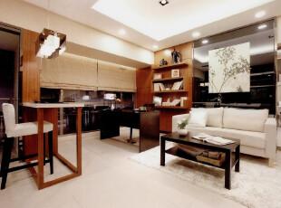 日式风格,客厅,日式,现代,原木色,黑白,