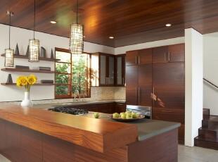 日式风格,厨房,日式,现代,原木色,