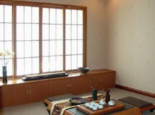 日式风格,客厅,日式,原木色,黑白,