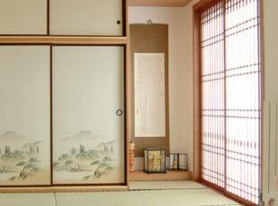 日式风格,卧室,地台,日式,绿色,