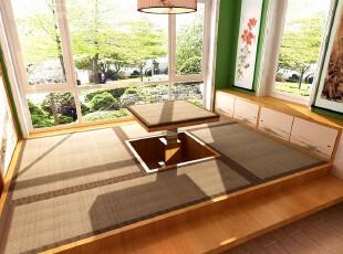 日式风格,客厅,日式,现代,原木色,