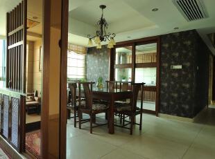 中式风格,餐厅,中式,原木色,