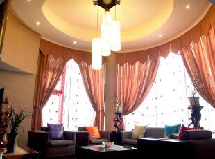 中式风格,客厅,窗帘,灯具,中式,欧式,小资,春色,