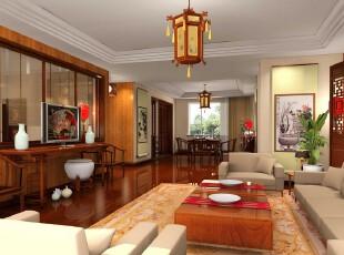 中式风格,客厅,中式,原木色,