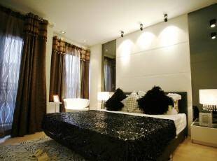 中式风格,卧室,中式,现代,绿色,黑白,