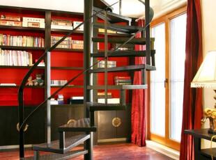 中式风格,楼梯,中式,红色,黑白,