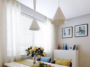 ,餐厅,餐台,灯具,窗帘,现代,简约,小资,白色,绿色,