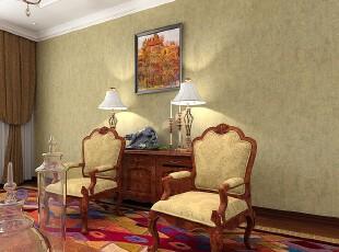 欧式装修,墙面,地台,客厅,欧式,黄色,