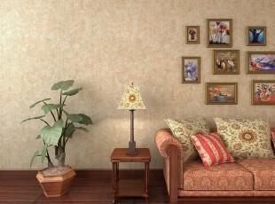 欧式装修,墙面,相片墙,客厅,欧式,黄色,原木色,粉色,