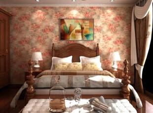 欧式装修,墙面,卧室,欧式,红色,原木色,