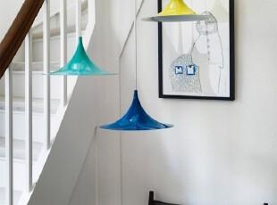 ,灯具,现代,蓝色,