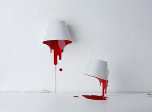 ,灯具,现代,宜家,红色,白色,
