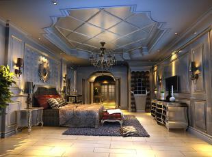 ,卧室,新古典,紫色,