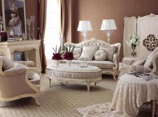 ,客厅,新古典,紫色,