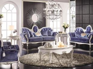 ,客厅,地台,新古典,紫色,
