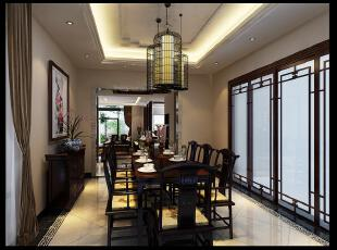 ,古典中式,130平,40万,别墅,独立别墅,中式,餐厅,