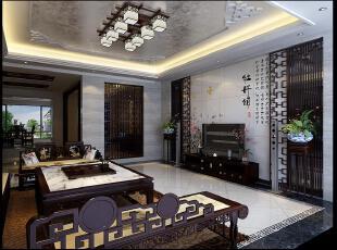 ,古典中式,130平,40万,别墅,独立别墅,中式,客厅,