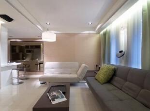 窗景洒落的自然天光就是客厅场域最好的装饰品。,简约,大气,现代,空间,客厅,