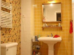 ,卫生间,现代,简约,黄色,