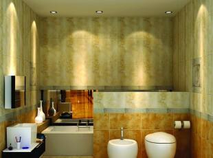 ,浴室,卫生间,黄色,欧式,