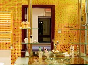 ,卫生间,现代,黄色,