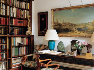 书架墙,与房间融为一体