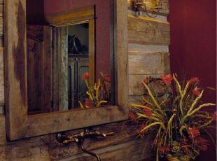 别具一格的红色系浴室