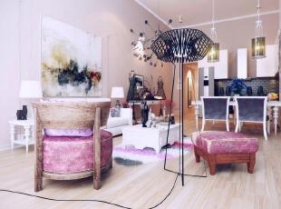 粉色时尚客厅