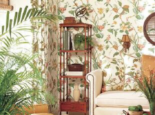 田园feel墙纸和植物搭配