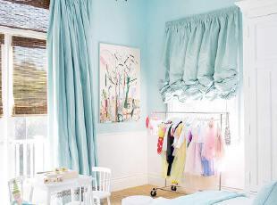 蓝白清新地中海风格卧室