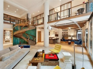 Tribeca复式公寓室内设计-客厅