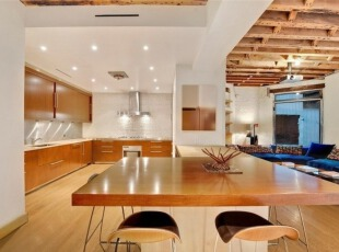 Tribeca复式公寓室内设计-厨房餐厅