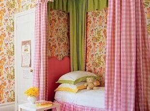 儿童床窗帘