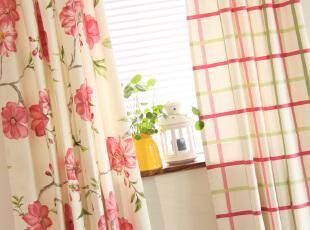 田园风格纯棉窗帘