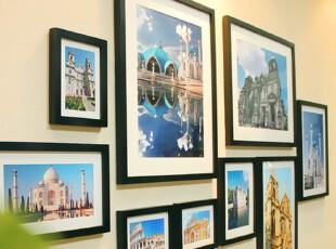 实木照片墙 厅大尺寸 20寸组合相框墙 相片墙