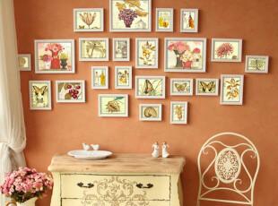 欧式实木照片墙 23框创意时尚相片墙