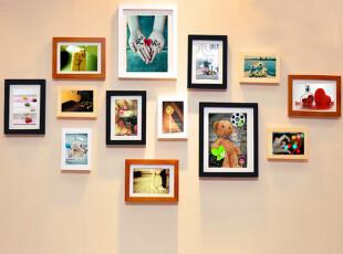 实木照片墙时尚创意相片墙相框组合