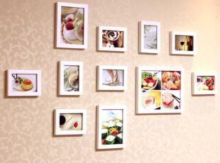 11框实木创意照片墙