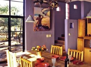 色彩斑斓的餐厅