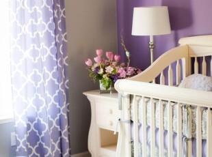 紫色梦幻窗帘