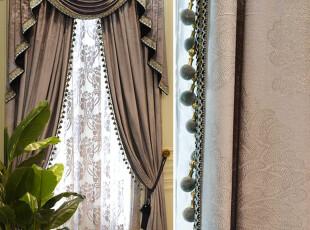 高档加厚丝绒滴塑窗帘
