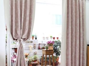 粉色遮光窗帘