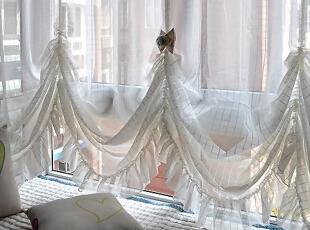 地中海百搭公主帘窗帘窗纱