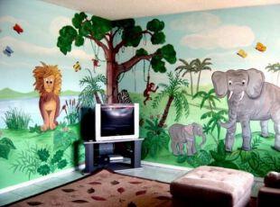 丛林主题儿童房
