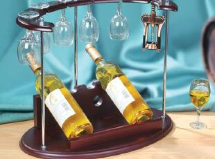 摆放杯具和酒水的架子