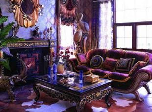 新古典紫色高贵客厅