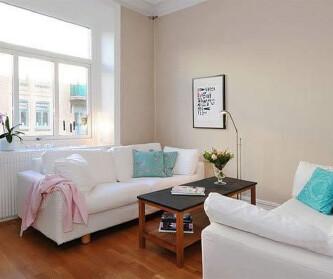 浪漫白色两居室